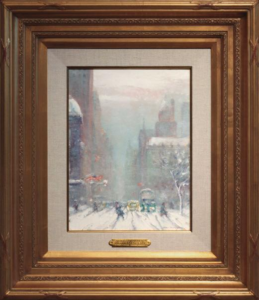 Johann Berthelsen Fifth Avenue in Winter New York City