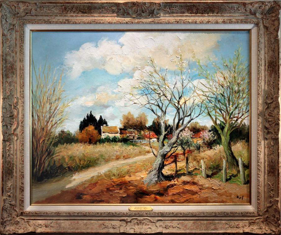 Marcel Dyf  Oil Painting Landscape Printemps dans le Verger