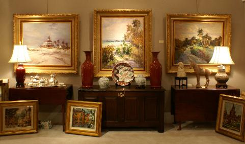 Collection of  Florida paintings by Robert Gruppe