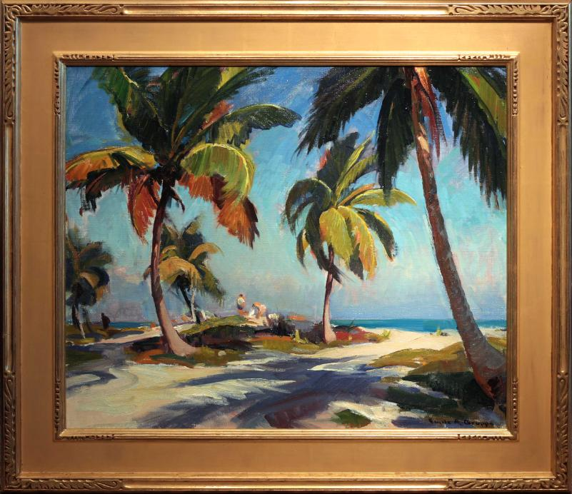 Emile Gruppe Oil Painting Crandon Park Miami Florida