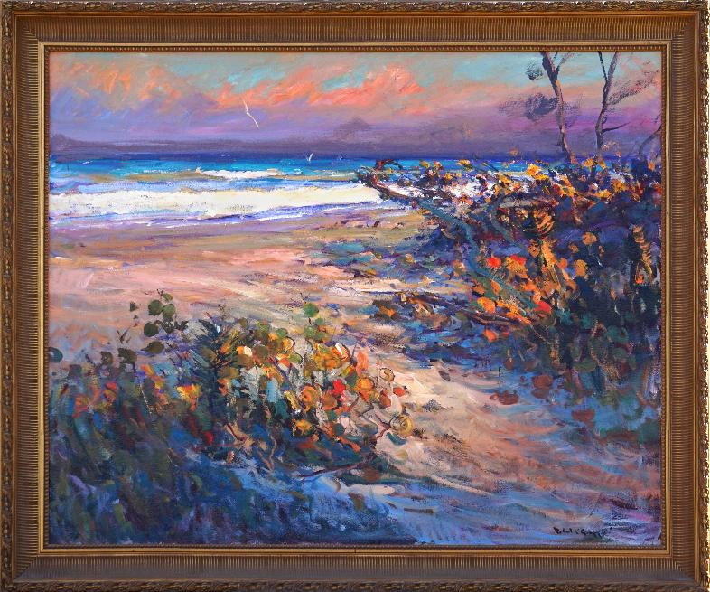 Robert Gruppe Florida Beach oil Painting