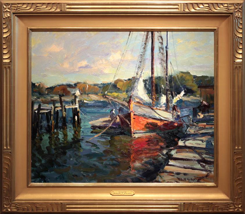 Robert Gruppe Oil Painting The Orange Hull