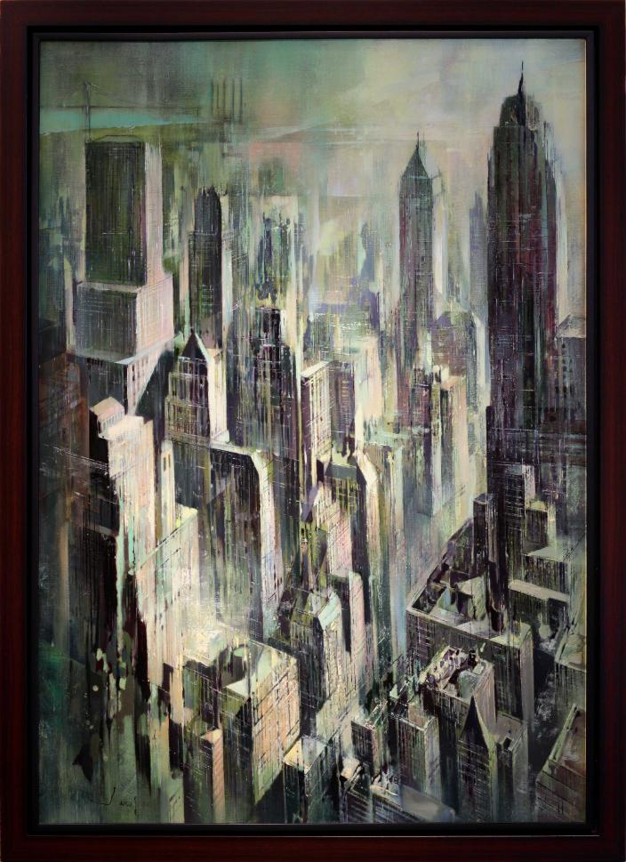 Jean-Theobald Jacus New York City Skyline Oil Painting