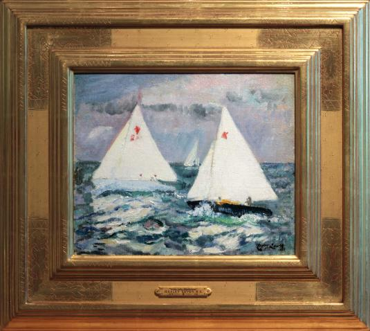 Richard Hayley Lever Painting Marblehead Boats
