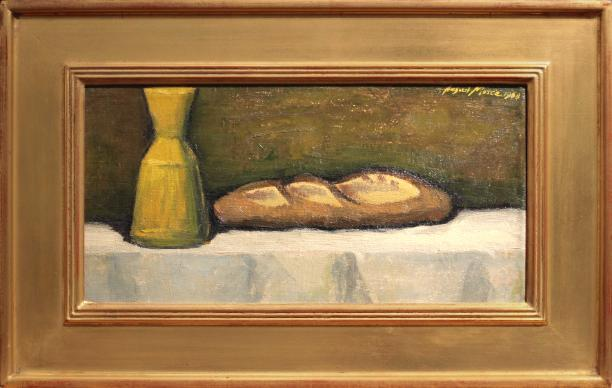 August Mosca Pane e Vino Painting