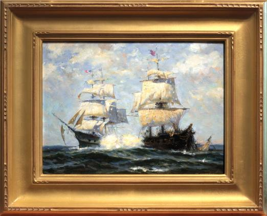 Paul Musin Painting of Naval Battle