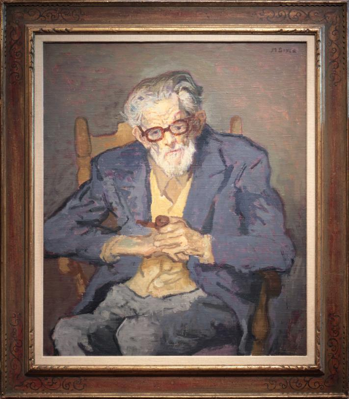 Moses Soyer Portrait of Keene Wallis