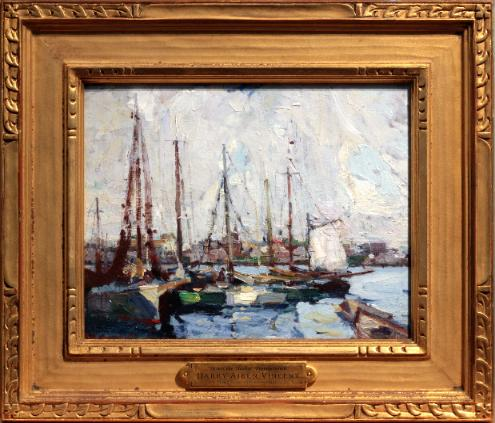 Harry Aiken Vincent Provincetown Harbor Oil Painting