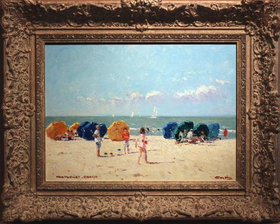 Niek van der Plas Oil Painting Beach Nantucket